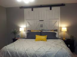 Headboard For King Size Bed Diy Queen Barn Door Headboard Natural Grain Textured Logs Canopy