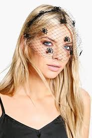faye halloween spider veil headband boohoo