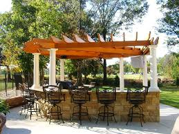 outdoor grill with purgola patio kitchens pergolas playsets