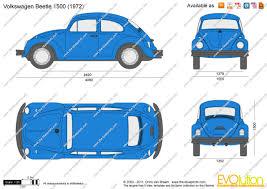 volkswagen bug clip art the blueprints com vector drawing volkswagen beetle 1500
