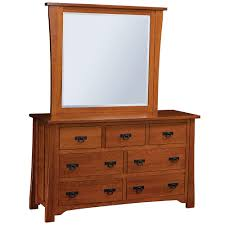 dresser with optional mirror in solid wood chest of drawers