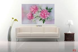 murals pink flowers in pastel colours wall murals pink flowers in pastel colours