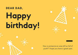 yellow u0026 black simple dad birthday greeting card templates by canva