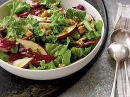 candied walnut pear and leafy green salad recipe myrecipes
