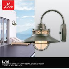 Verano Outdoor Wall Sconce by Liam Collection 1 Light Bronze Outdoor Wall Sconce With Frosted