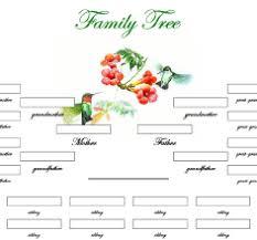 free printable family charts new printable family trees