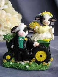 deere cake toppers s moo moos for heifer my deere western tractor cow