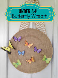 Frugal Home Decorating Spring Frugal Butterfly Door Wreath Home Decor