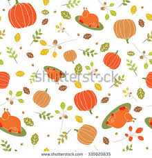 thanksgiving pattern background turkey pumpkin celebratory stock