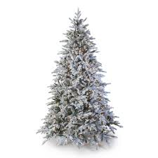 7 5 ft pre lit natural cut flocked vermont spruce christmas tree