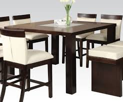 Dining Room Table Top Acme Keelin Dining Table With Insert Table Top In Espresso 71035