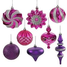 set of 18 cerise pink purple finial and