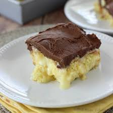 boston cream pie poke cake diary of a recipe collector