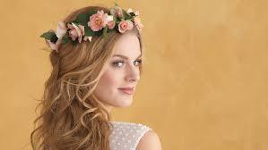 flowers for hair floral wedding hairstyles martha stewart weddings