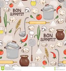 bon appetit seamless background pattern stock vector image 44830046