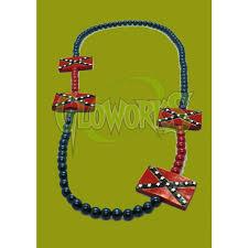 Confederate Flag Jewelry Flag Beads 1 Piece