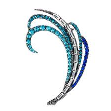 ear cuffs online india buy ashiana blue and silver ear cuff earring single