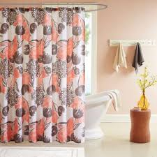 Navy And Coral Shower Curtain Salmon And Gray Shower Curtain Curtain Gallery Images