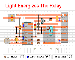 temperature activated light switch two light operated relay circuits