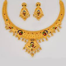 222 best necklace set images on gold jewellery indian