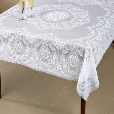 hadleigh white lace tablecloth