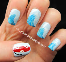 creative nail design by sue summer fun challenge the big blue