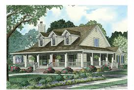 farmhouse with wrap around porch eplans farmhouse house plan wraparound front porch 2039 square