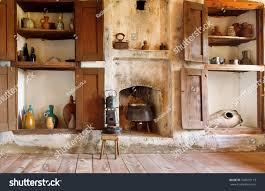 interior old house georgia country kitchen stock photo 548615113
