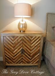 Teardrop Floor Lamp Chevron Inlay Chest As Bedroom Side Table Pier 1 Kadhi Chevron