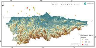 Asturias Spain Map by Asturias Seismicity Map Full Size