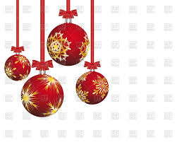 red christmas balls with snowflakes vector clipart image 87456