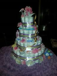 small tea party diaper cake 3 tiered personal creation diaper
