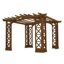 Round Gazebo Kits by Pergolas Sheds Garages U0026 Outdoor Storage The Home Depot
