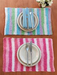 crochet home decor free patterns yarnspirations com lily stripes placemat patterns