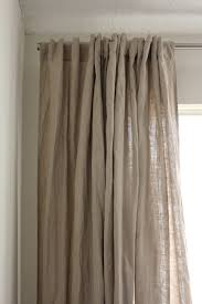 Curtains And Window Treatments by Interior Endearing Linen Drapes With Curtain Rod For Window