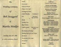 program paper seeded programs for weddings and events