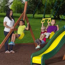 Backyard Swing Sets For Adults by Backyard Discovery Oakmont Cedar Wooden Swing Set Walmart Com