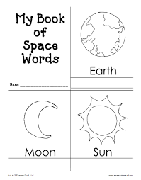 book space words printable book teacher stuff