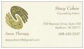 Uw Madison Business Cards Awen Therapy Free Therapy Stacy Cohen To Intern At Awen Therapy
