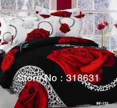 bold red rose print bedspreads compare black rose duvet cover