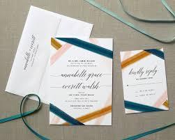 rustic watercolor wedding invitations fine day press