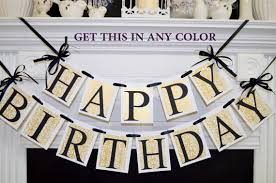 happy birthday banner gold damask black gold birthday