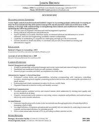 Resume Accounting Examples by Updated Good Resume Examples Profile The Value Of Writing A