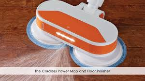 the cordless power mop and floor polisher youtube