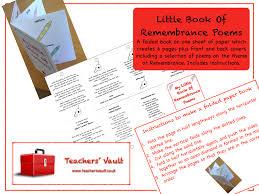 little book of remembrance poems ks2 ks3 ks4 british values