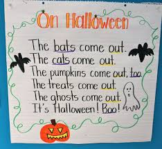 Halloween Poems Scary First Grade Fresh October 2011