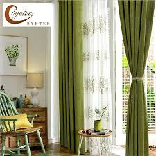 Moss Green Curtains Green Window Curtains Semi Opaque Moss Green Blackout Curtain Mint