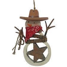 st nicholas square cowboy snowman ornament 8 99