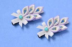 ribbon hair clip how to make ribbon flower hair with acrylic rhinestone