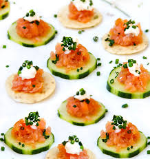 appetizer canape smoked salmon tartare an appetizer in ten minutes